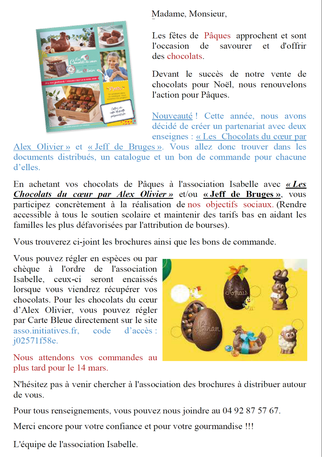Texte Pour Mail Association Isabelle